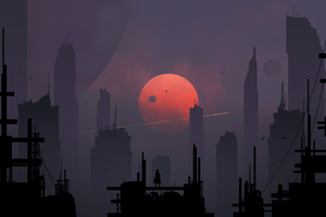 Scifi City Minimalism