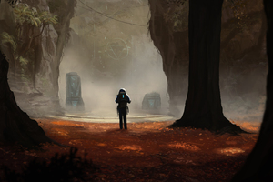 Scifi Concept Art Adventure Forest Antasy Digital Art 4k