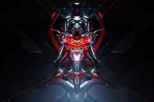 Scifi Concept Cyberpunk Machine 4k