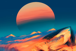 Scifi Desert Planet Digital Art
