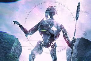 Scifi Droid Concept 4k