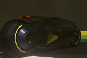 Scifi Fat Tyre Bike 4k