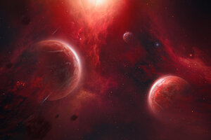Scifi Fire Space Wallpaper