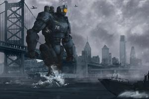 Scifi Futuristic Robot Wallpaper
