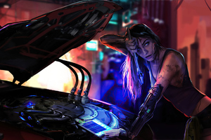 Scifi Mechanic Girl 4k