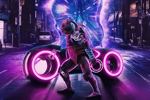 Scifi Tmnt Tron Bike 4k Wallpaper