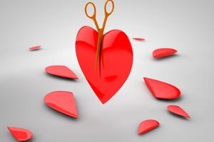 Scissors Cutting Heart Wallpaper