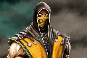 Scorpion From Mortal Kombat 5k Wallpaper