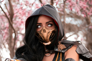 Scorpion Girl Mortal Kombat Cosplay 4k Wallpaper