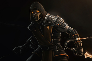 Scorpion Mortal Kombat Dark 4k