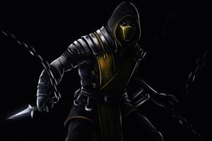 Scorpion Mortal Kombat Dark 5k