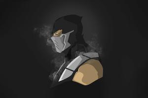 Scorpion Mortal Kombat Dark Minimalism 5k