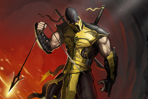 Scorpion Mortal Kombat Game 4k Wallpaper