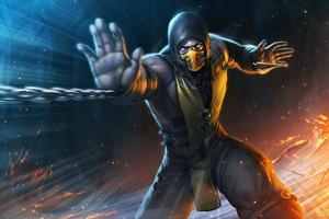 Scorpion Mortal Kombat Game 5k Wallpaper