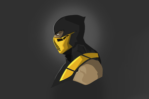 Scorpion Mortal Kombat Minimal 5k Wallpaper