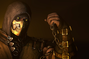 Scorpion Mortal Kombat X Poster Wallpaper