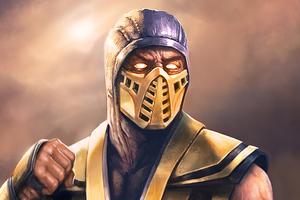 Scorpion Sub Zero Mortal Kombat Art Wallpaper