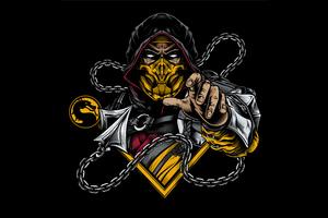 Scorpion Sub Zero Mortal Kombat Minimal 4k
