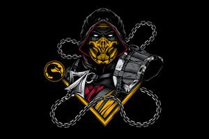 Scorpion Sub Zero Mortal Kombat Minimal