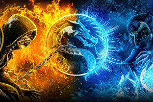 Scorpion Vs Subzero 8k Wallpaper