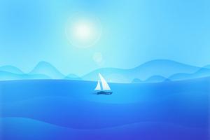 Sea Boat Material Minimal