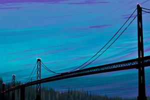Sea Bridge Digital Art 4k Wallpaper