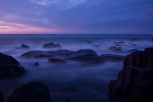 Sea Coast Horizon Calming Wallpaper