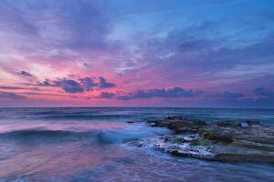 Sea Coast Ocean Clouds 5k