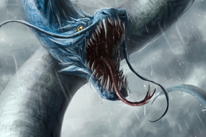 Sea Dragon Open Mouth 4k Wallpaper