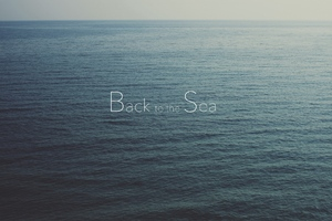 Sea Nostalgia Typography Wallpaper