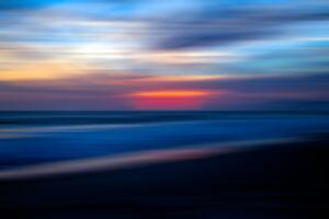 Sea Ocean Water Sunset Blur 5k