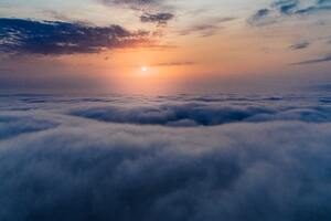 Sea Of Clouds Aerial View 5k