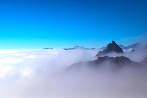 Sea Of Clouds Mountains Peak 5k Wallpaper