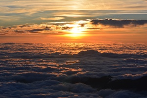 Sea Of Clouds Sunset Wallpaper