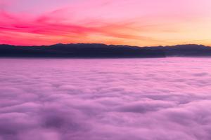 Sea Of Clouds Sunset Landscape 4k Wallpaper