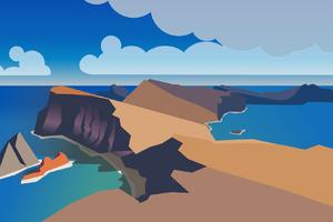 Sea Side Island Minimal
