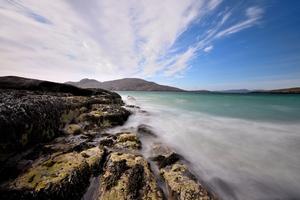 Seascape Front Scenery Blue Rocks 5k