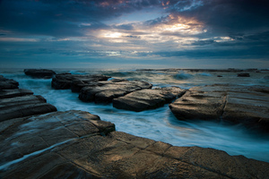 Seascape Ocean Rocks Wallpaper