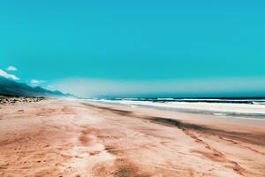Seashore Under Clear Blue Sky 5k