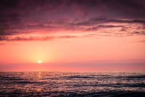 Seawater Sunrise Sunset Water Wallpaper