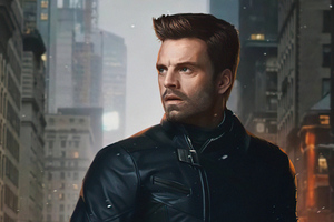 Sebastian Stan From The Falcon And Winter Soldier Wallpaper