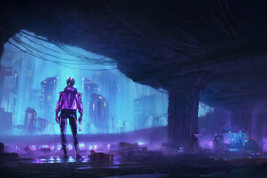 Second Life Neon Nights 4k