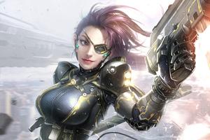 Secret Female Agent Warrior Girl 4k