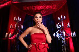 Selena Gomez In Red Dress