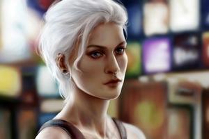Septum Piercing Girl Portrait Art 4k