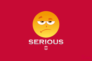 Serious Emotion Icon 4k Wallpaper