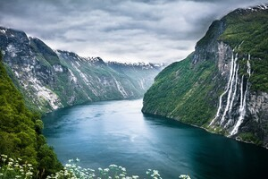 Seven Sisters The Fjords In Norway Wallpaper