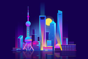 Shanghai City Hd Illustration