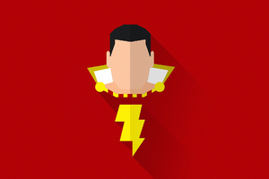 Shazam Minimal Art Wallpaper