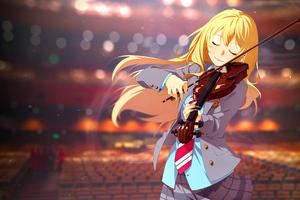 Shigatsu Wa Kimi No Uso Playing Violin